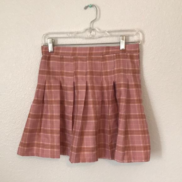 Dresses & Skirts - New and Unused Pink Plaid Pleated Skirt
